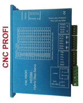 Servo stepper motor control - output stage for 1 axis - 8 A 80VAC, HSS86, PC-NC