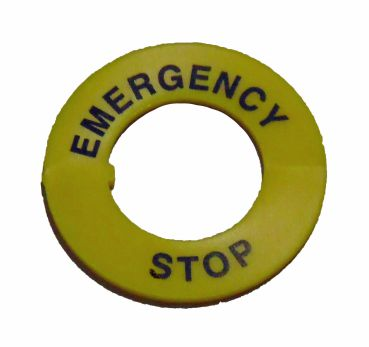 EMERGENCY-STOP sign - E-Stop sign