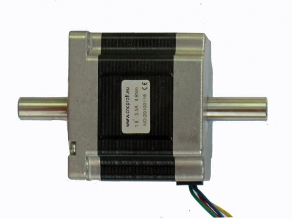 CNC PROFI - Schrittmotor - 4 Nm 8 Kabel-Unipolar- 2 Wellenenden ...