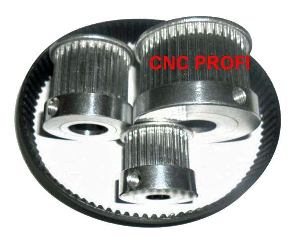40 Zähne Zahnriemenrad HTD-5M 15mm breit Bohrung 14,00mm H7 mit Klemmschraube